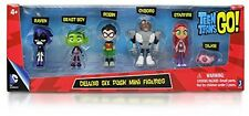 Teen Titans Go Action 6 Pack Figure Robin Raven Cyborg Beast Boy Starfire Silkie