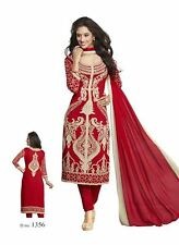 Salwar Kameez Chudidar Suit Indian Bollywood Pakistani Unstitched Synthetic Crep