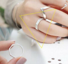 925 Sterling Silver - Size 7 Simple Geometry Rhombus Lucky Party Open Lady Ring