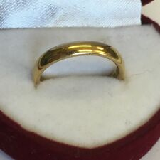 Antique Solid 22ct Solid Gold Wedding Band / Ring 5.9g Size L1/2 1927 Heavy