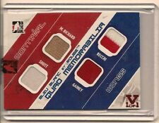 MAURICE RICHARD 2014-15 IN THE GAME SUPERLATIVE VAULT GAME USED QUAD JERSEY 1/1