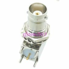 1pce Connector BNC female jack Bulkhead solder PCB mount right angle RF COAXIAL