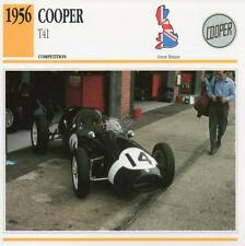 1956 COOPER T41 Racing Classic Car Photo/Info Maxi Card