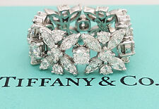 Tiffany & Co Victoria Plat 4.4ct Marquise & Round Diamond Eternity Flexible Ring