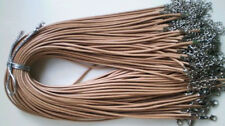 Wholesale Hot 10 pcs sandy beige PU Leather String 20 inch Necklace Cords New