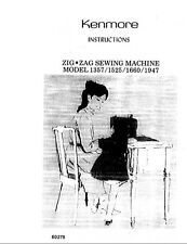 KENMORE 158. 1357 13571 1525 15251 1660 1947 Sewing Machine Manual on CD Disk