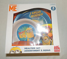 NEW Baby, Toddler, Kid, Minions Dish Set, Plate Bowl Cup, Feeding  Despicable Me