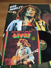 ORIGINAL LP BOB MARLEY & THE WAILERS LIVE 1975 ISLAND + POSTER EN TOP ETAT NM/EX