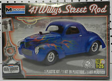 1941 41 WILLYS STREET HOT ROD RAT DRAG RACE NOS SEALED MONOGRAM MODEL KIT