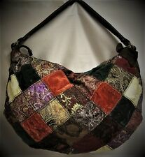 Lucky Brand Handbag Shoulder Slouch Bag Quilted Rich Color