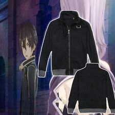 Japen Anime SAO Sword Art Online Kirito Cosplay Hoodie Coat Jacket Sweatshirts