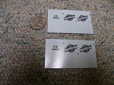 """Herald King decals HO Chicago North Western """"Line"""" heralds 2 sheets  XX201"""