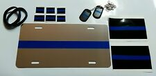 Thin Blue Line license plate, dog tags, decals and bracelets SUPER DEAL! Police