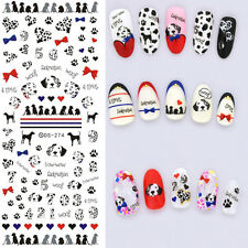 1 Sheet Nail Art Transfer Water Decal Manicure Sticker Decor Spotty Dog Pattern