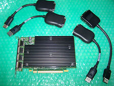 PNY NVS 450 512MB PCI-E Quad DVI Monitors Graphics Card with 4 Cables