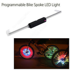 Programmable Wireless Bicycle Spoke Flash LED Light Wheel Tire Water Resistant