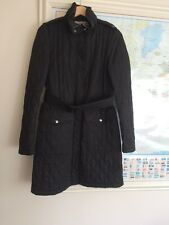 Haut femme Burberry long matelassé trench coat uk made in england black diamond