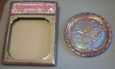 "1976 American Bicentennial Gold Carnival Glass Plate by Indiana Glass Co- 8""D"
