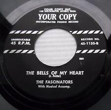 FASCINATORS doowop repro 45 BELLS OF MY HEART / SWEET BABY VG++ bb3396