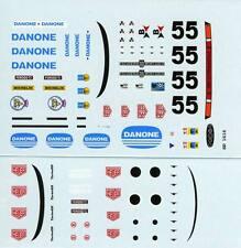 PORSCHE 934 GR.4 N°55 DANONE LE MANS 1977 DECALS 1/43