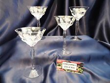 Champagne Cordial Wine Goblet Glass set of four