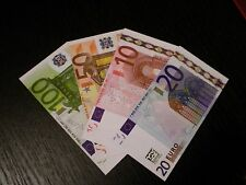 8,640 = 192 X Unreal  Fake Euro Poker Game Play Money Banknotes Bills Monopoly