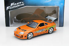 Brian 's TOYOTA SUPRA Fast and Furious Orange 1:18 Jada Toys