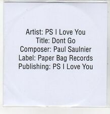 (DQ829) Don't Go, PS I Love You - 2013 DJ CD