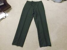 ARMY MENS GREEN 491 DRESS PANTS SIZE 34S NEW