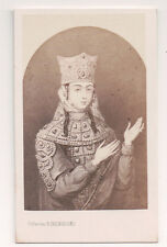 Vintage CDV Queen Anu of Mongolia  E.Desmaisons Photo