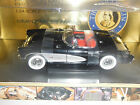 Franklin Mint Precision Models 1:24 Scale Black 1957 Cevrolet Corvette Model Car