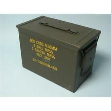 Large 50 PA-108 SAW Ammo Cans Boxes. Real Army Surplus 100% Steel