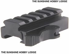 Quick Release 5 Slot Weaver Rail Riser Mount Fits 20mm Weaver / Picatinny Rail