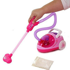 Kids Battery Operated Vacuum Cleaner Toy Set Role Play Real Suction Cleaning Set