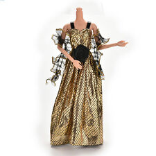 1X Crocodile Grain New Arrival Doll Clothes Dress for Barbie Doll with Shawl 0CN
