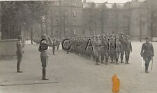 WWII German Large RP- Army Soldier- Officer- Helmet- Salute- Sword- Ceremony