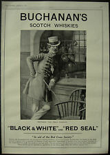 WWI Buchanan's Black & White Red Seal Whisky Charles Dickens 1916 1 Page Advert