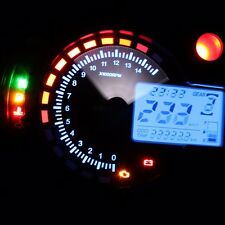NEW 299KM/h LCD Digital Motorcycle Speedometer Odometer Motor Bike Tachometer