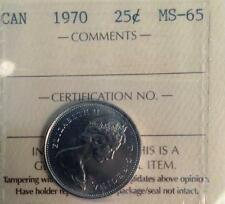 1970 25 CENT ICCS GRADED MS65