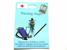 "NURSING ANGEL LAPEL TAC PIN 3/4"" H x 1/4"" W"