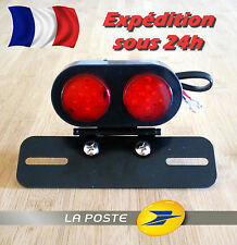 Feu Phare Arrière Support Plaque Eclairage Moto Cafe Racer Custom Harley Chopper