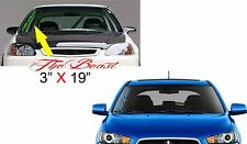 the beast (side decal) Windshield Banner Vinyl Decal Sticker