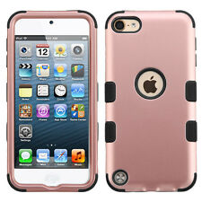for iPod Touch 5th / 6th Gen -ROSE GOLD Dual Layer Hybrid Impact Armor Skin Case