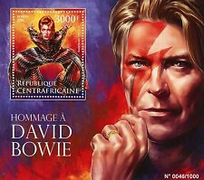 Central African Republic 2016 MNH David Bowie Tribute 1v S/S Music Stars Stamps