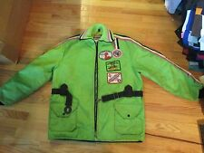 Arctic Cat Snowmobile Winter Jacket Coat With Belt Size L Zipper doesn't work