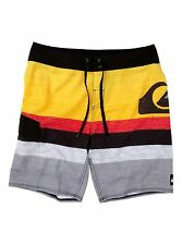 NEW* QUIKSILVER MEN'S 32 BOARDSHORTS SHORTS SWIMSUIT Kelly Slater Red Yellow