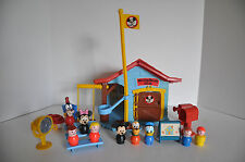 Vintage Fisher Price Little People in a  Mickey Mouse play set