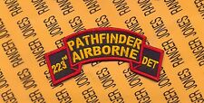 US Army 223rd Pathfinder Airborne Detachment Infantry Aviation scroll patch