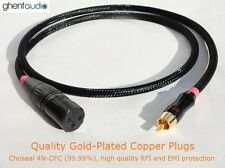 A06 (1m 3ft) --- RCA/Phono(male) to XLR(Female) Choseal 4N-OFC HIFI Audio Cable