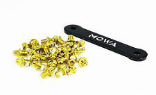 MOWA Skid-proof Bike Platform Pedal Pins Replacement Screws Bolts 38pcs Gold